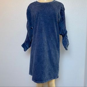 Jane and Delancey Chambray Sweatshirt Dress